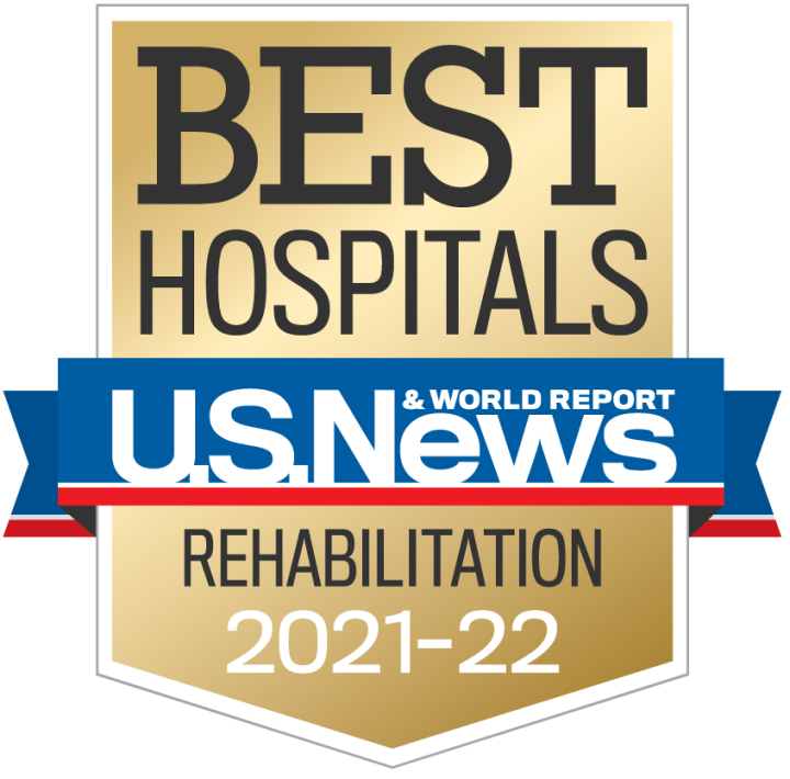 U.S. News & World Report Best Hospitals - National Rehabilitation 2019-20 Badge